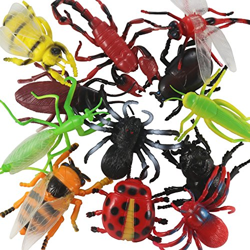 Insects and Bugs Toy For Kids (Pack of 12 Pieces). Insect And Bug Figure Playset for Kids. Suitable For Gift And Decoration. Too Much Fun For Kids.