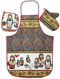 Bargain 'Matryoshka' (Nesting Doll) 3-piece Kitchen Textile Set opportunity