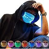 Ajcoflt LED Rave Mask 7 Color Luminous Light Up Party Mask USB Rechargeable for Christmas Party Festival Dancing Bar…