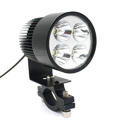 740ef78f7 Amazon.com  LEORX 12V-80V 20W Motorcycle E-bike LED Headlight Lamp Car  Accessories (Black)  Automotive