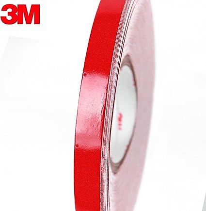 3M White Reflective Body Stripe Trim DIY Sticker Tape Sticker Decal 1CMx150FT