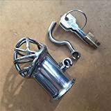 MISSLOVER 2017 Male Stainless Steel Penis Piercing PA Puncture Lock Bondage Cock Cage Chastity Device Sex Toy For Men Adult BDSM Product 1pcs