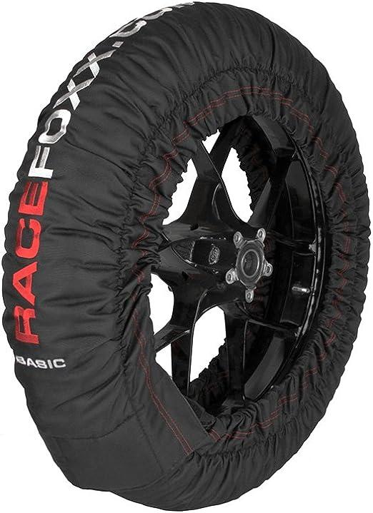 Reifenwärmer Tire Warmers Racefoxx Basic 80 C Heiztemperatur Superbike 120 17 Vorne Und 180 Bis 200 17 Hinten Rennsport Heizdecken Motorradreifen Auto
