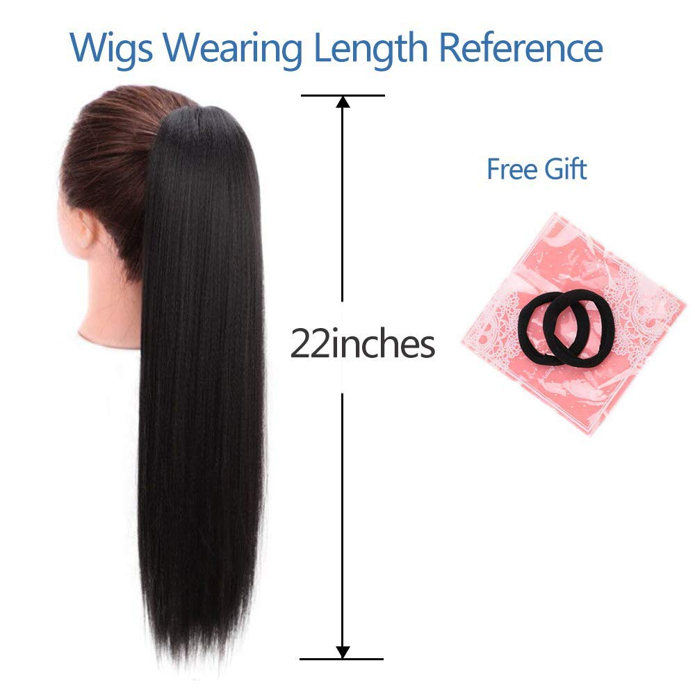 Amazon Com Stamped Glorious Long Ponytail Extension Yaki Straight