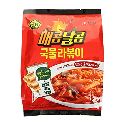 Amazon Com Nongshim Spicy Sweet Soup Noodle Tteokbokki Korean Food Stir Fried Rice Cake With Ramen Noodles Korean Tteokbokki Instant Cooking Food Asian Dishes Overseas Direct Shipment