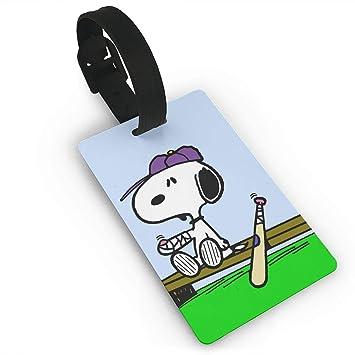 WSXEDC Etiquetas para Equipaje Snoopy Etiquetas para Maleta de béisbol Bolsa Etiqueta identificación de Viaje Etiqueta de Equipaje: Amazon.es: Hogar