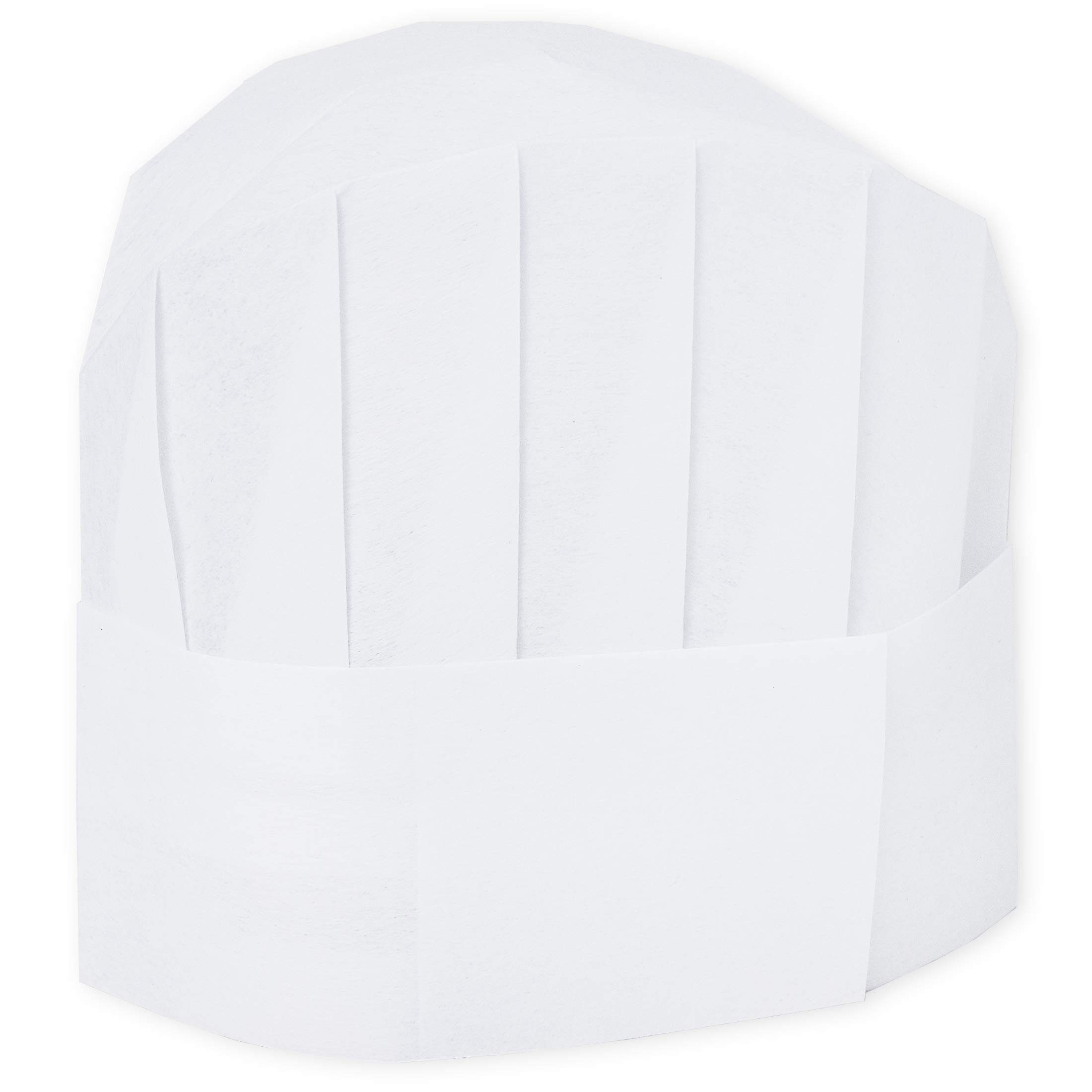 Chef Hats – 24-Pack Disposable White Paper Chef Toques, Chef Supplies, Adjustable Professional Kitchen Chef Caps for Baking, Culinary Hygiene, Cooking Safety, 20-22 Inches in Circumference
