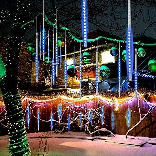 EEIEER Lichtketting sterrenregen, waterdichte led-lichtketting, ijspegels, sneeuw, herfst, met draad, toverlichtwaterval…
