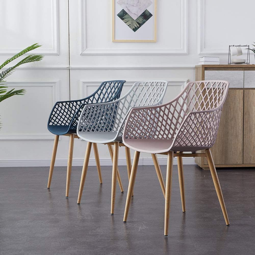 Ryggstöd ihålig stol, plaststol, enkelt och modernt mode, kafé kontorsstol, stol Mörkbrun Mörkbrun