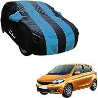 Autofurnish Aqua Stripe Car Body Cover Compatible with Tata Tiago - Arc Blue