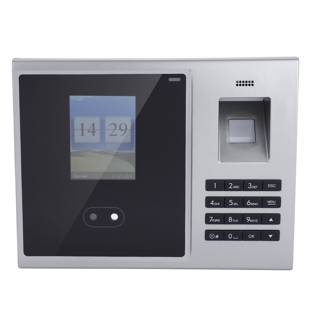 Yosoo- 2.8'' TFT Face Recognition Attendance Machine, Fingerprint Management Machine Employee Checking-in Payroll Recorder Access Control System(US)