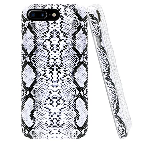 - Lartin Soft Flexible Jellybean Gel TPU Case for iPhone 7 Plus / iPhone 8 Plus (Cool Snake Skin)