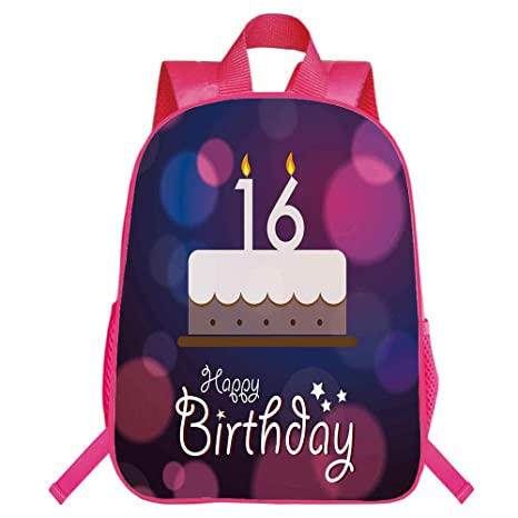 IPrint Personal Tailor Red Monolayer Rucksackk16th Birthday DecorationsCake Candle Anniversary Of Birth