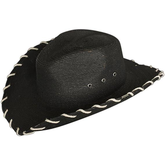 0228f3ecc7d Wornstar Hut Essentials Hellrider HS Black   Natural Rocker Cowboy Hat  Schwarz  Amazon.de  Bekleidung