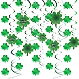 Toys : Joyin Toy St. Patrick's Day Irish Green Shamrock Foil Strings and Hanging Swirls for St Patrick Ceiling Hanging and Wall Decoration (28 Pieces)