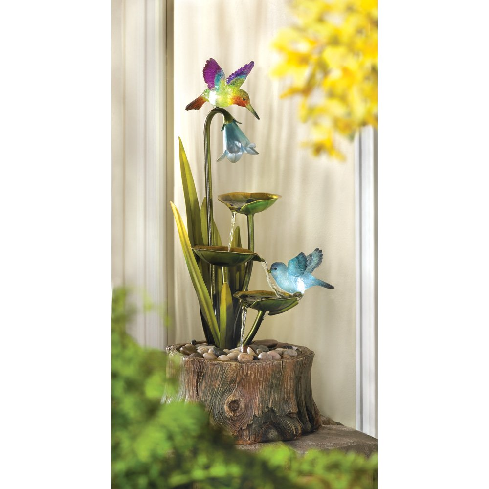 Amazon.com: Hummingbird Haven Home Garden Decor Water Fountain by ...
