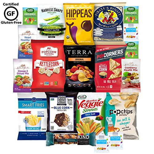 Gluten Free Healthy Snacks, Mixed Premium Set of Snacks Includes Veggie, Popcorn and Gummy Snacks Care Package (20 Count) (20 pack)
