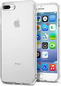 Whew Compatible with iPhone 8 Plus Case,iPhone 7 Plus Case,Clear Anti-Scratch Shock Absorption Cover Case for iPhone 8 Plus,iPhone 7 Plus Clear