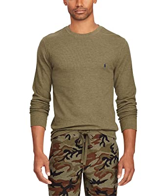 1b060297f Polo Ralph Lauren Waffle Knit Lounge Shirt, S, British Olive