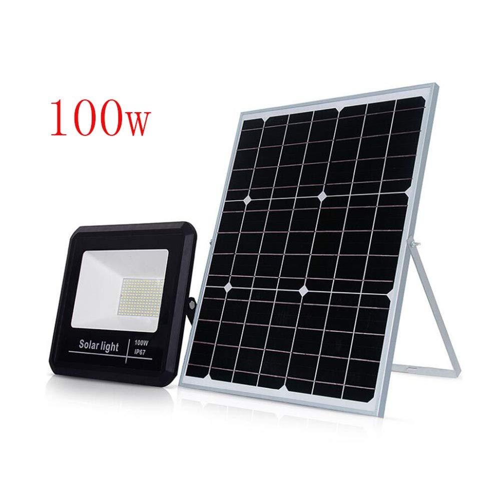 Solar Flood Light, 208 LEDs 100W IP67 Wasserdichte Outdoor-Sicherheit Fernwasserschutz Hochwasser-Leuchte für Garten, Bauernhof, Schuppen, Camping, Garage