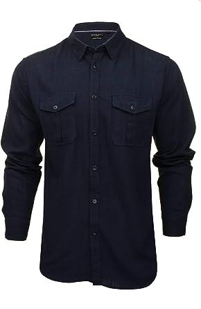 Brave Soul Camisa de manga larga para hombre con doble bolsillo: Amazon.es: Ropa y accesorios