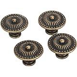 DN Decorative Vintage Round Pull Handle Knob Cupboard Bronze Drawer Cabinet(Pack Of 4)