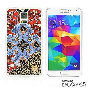 OnlineBestDigitalTM - Flower Pattern Hardback Case for Samsung Galaxy S5 - Beautiful Persian Pattern