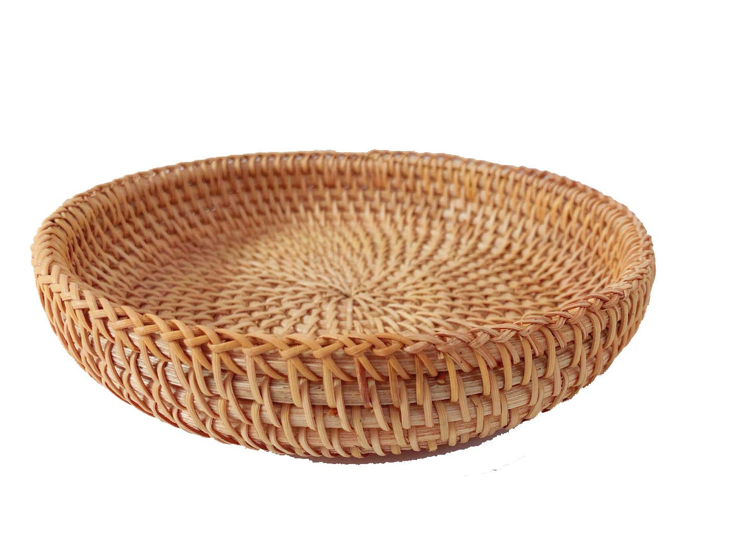 Rattan Basket Dried Fruit Basket Woven Basket Basket For Gifts Fruit Baskets Wicker Picnic Basket Wicker Basket Candy Basket 2019 Organizer Shallow Basket Gift Baskets For Women (2PCs wicker basekt) by TIMESFRIEND (Image #1)