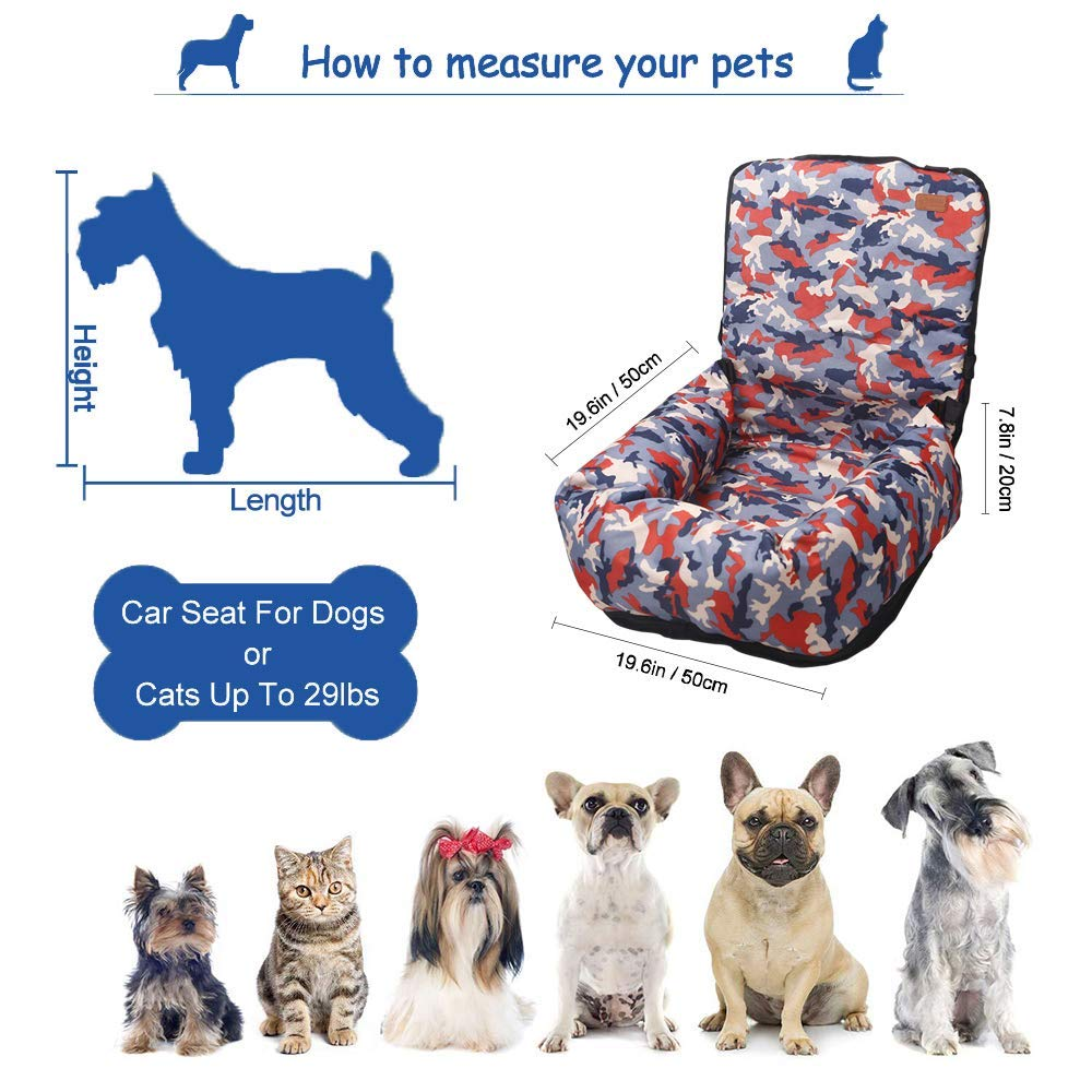 Light blue//white Pet Car Seat for Puppies Dog Cat : Safe and Comfortable Anti-Skid Booster Dog Seats TOPONE Dog Car Seat Suitable for Family Reunion and traveling and More