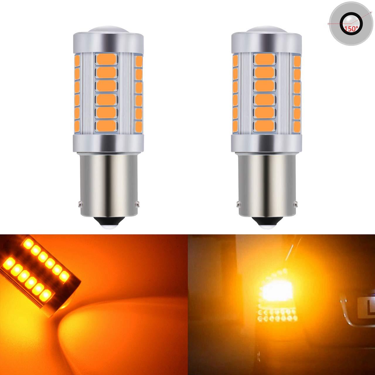 Katur 10 lampadine 1157 BAY15D 5630 33-SMD Amber 900 per fanali e freno 12/V 3.6/W luminosit/à 8000/K a LED