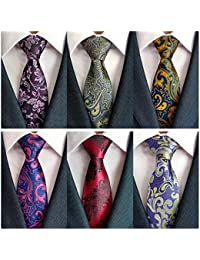 Men's Necktie Classic Silk Tie Woven Jacquard Neck Ties 6/9 / 12 PCS