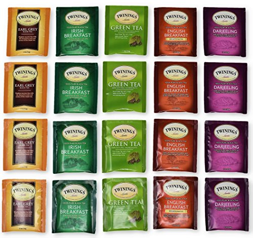 Twinings Tea Bags Sampler Assortment, 50 Count - Blue Ribbon Tea