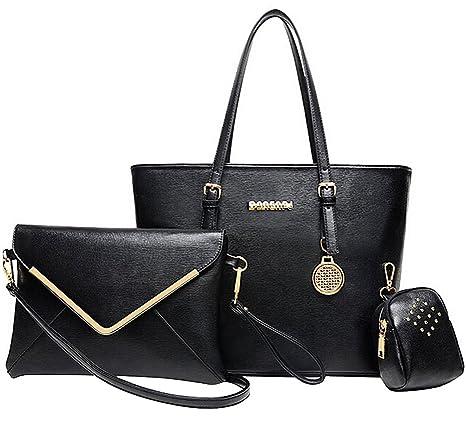 Bolsos de Mujer, Coofit Bolso Bandolera Bolso Mano Bolso Tote Bag Bolso Cuero Bolso Shopper Bolsos de 3
