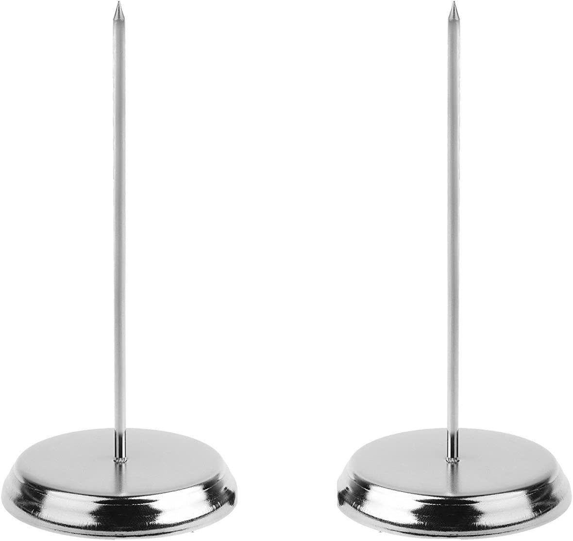 "Bluecell pack of 2 stainless steel 6"" Receipt bill paper note fork desk holder for restaurant bar"