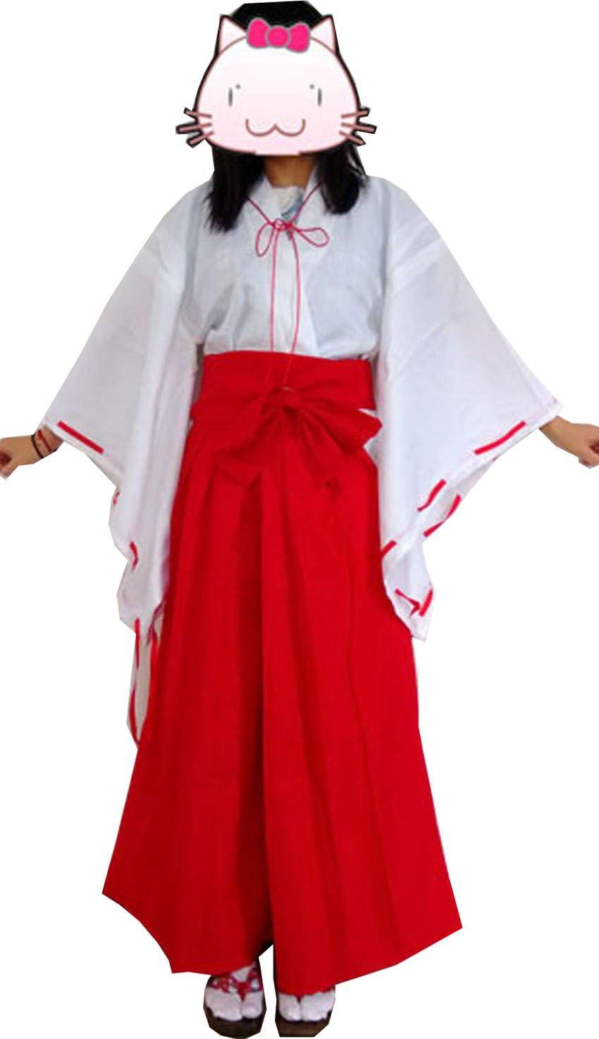 Amazon Com Fantasycart Japanese Anime Inuyasha Psychic Kikyo Kimono Cosplay Costume Small Toys Games