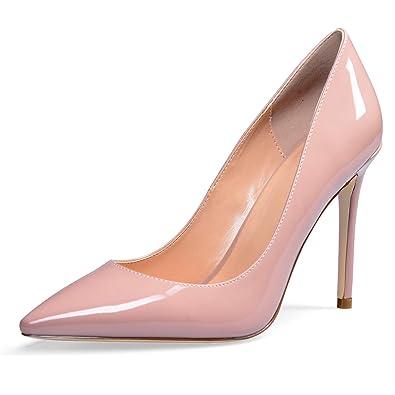 71e8d0cc9a1 YODEKS Women's Pointed Toe Classic Pumps 100mm Stiletto Heel Shoes Dress  Pumps