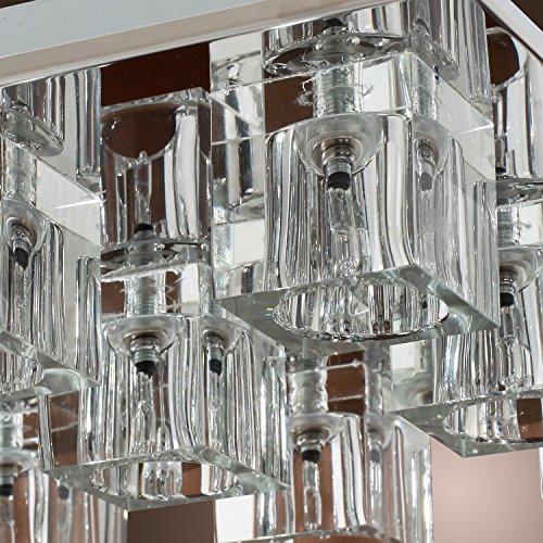 Lightess Chandelier Lighting LED Crystal Ceiling Light Fixtures Modern Flush Mount with 9 Lights in Square Shape by LIGHTESS (Image #6)