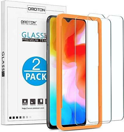 OMOTON Protector Pantalla OnePlus 6T/OnePlus 7 Cristal Templado OnePlus 6T/ OnePlus 7, 2.5D Borde, 9H Dureza, Anti-arañazos, Anti Burbujas, con Marco Guía [2 Piezas]: Amazon.es: Electrónica