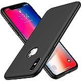 Woqatac iPhone XS ケース iPhone X ケース iPhone XS/X カバー PC素材 指紋防 ケース 耐衝撃カバー 擦り傷防止 軽量 超薄型Qi充電対応 (iPhone XS/X ケース, ブラック)