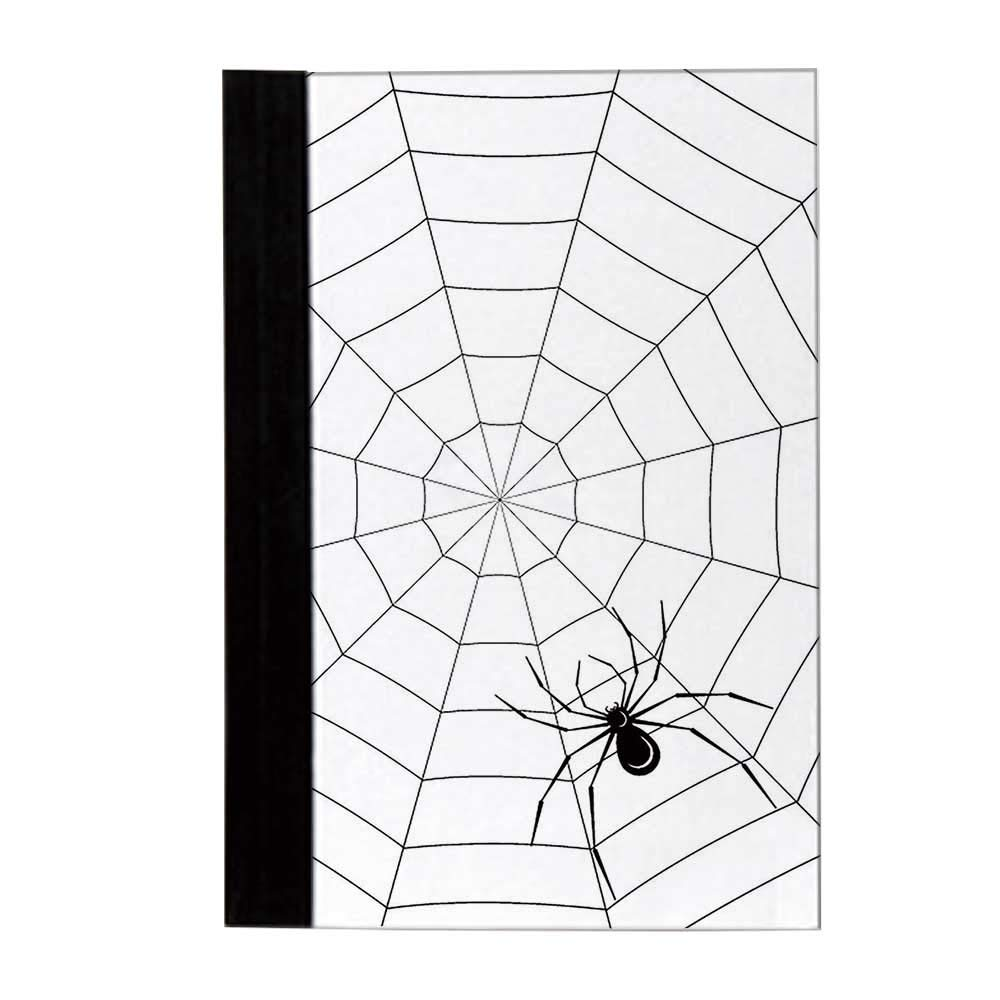 Spider Web Durable Notebook,Toxic Poisonous Insect Thread Crawly Malicious Bug Halloween Character Design Decorative Business Gifts,10'' L x 8'' W by YOLIYANA