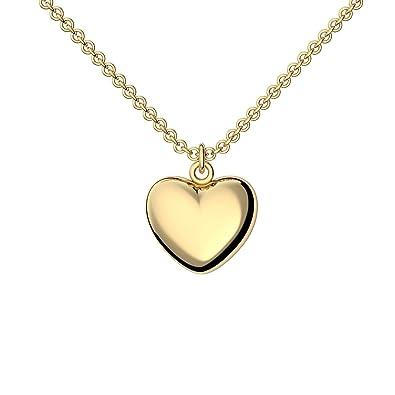 Goldkette damen hochzeit  Herzkette Gold 925 Kette Damen +GRATIS Etui mit Gravur Echt ...