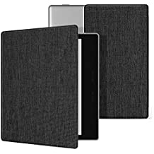 Ayotu Fabric Case for Kindle Oasis(9th Gen,2017 Release)Thinnest&Lightest,Durable Soft Fabric Cover with Auto Wake/Sleep Function,Strong Adsorption for All-New 7''Kindle Oasis Case,KO-09 The Dark Gray