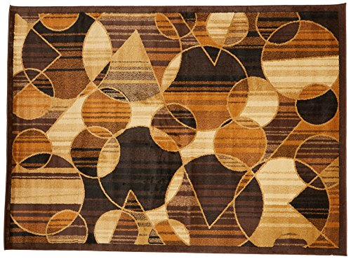(Ashley Furniture Signature Design - Calder Medium 5'x7' Rug - Contemporary - Brown/Tan/Rust)