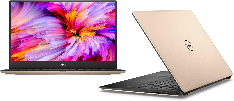 "Dell XPS 13 9360 13.3"" Laptop QHD+ Touchscreen 7th Gen Intel Core i7-7500U, 16GB RAM, 512GB NVME SSD Machined Aluminum Display Silver Win 10 ROSE GOLD"