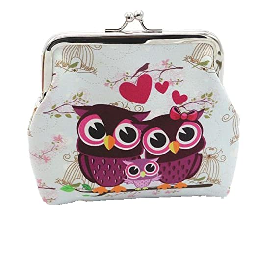 a4b6e49ee6ea Toraway Wallet, Vintage Women Small Coin Pockets Hasp Owl Purse Clutch  Wallet Bags