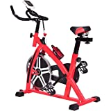Goplus Exercise Bike Indoor Stationary Bicycle Cardio Fitness Cycle Trainer Heart Pulse w/LED Display for Home Gym Cycling Workout