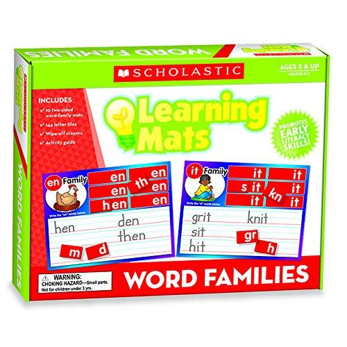 Word Family Words Mats (TEACHERS FRIEND LEARNING MATS WORD FAMILIES (Set of 6))