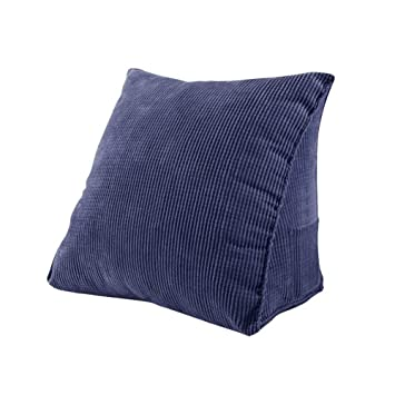 Pleasing Joyful Store Corduroy Triangle Pillow Waist Sofa Bed Office Chair Wedge Cushion Elevating Leg Back Rest Support Pillow Navy Blue S 15 7X14 2X7 8 Gmtry Best Dining Table And Chair Ideas Images Gmtryco