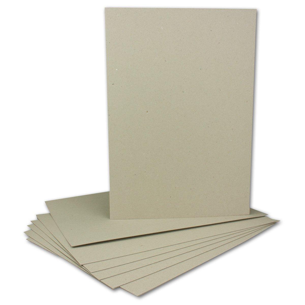 100 Stück Buchbinderpappe DIN A4   Stärke 2,0 mm   Grammatur  1230 g m²   Format  29,7 x 21,0 cm   Farbe  Grau-Braun   100 Stück B072XPFRTL | Marke