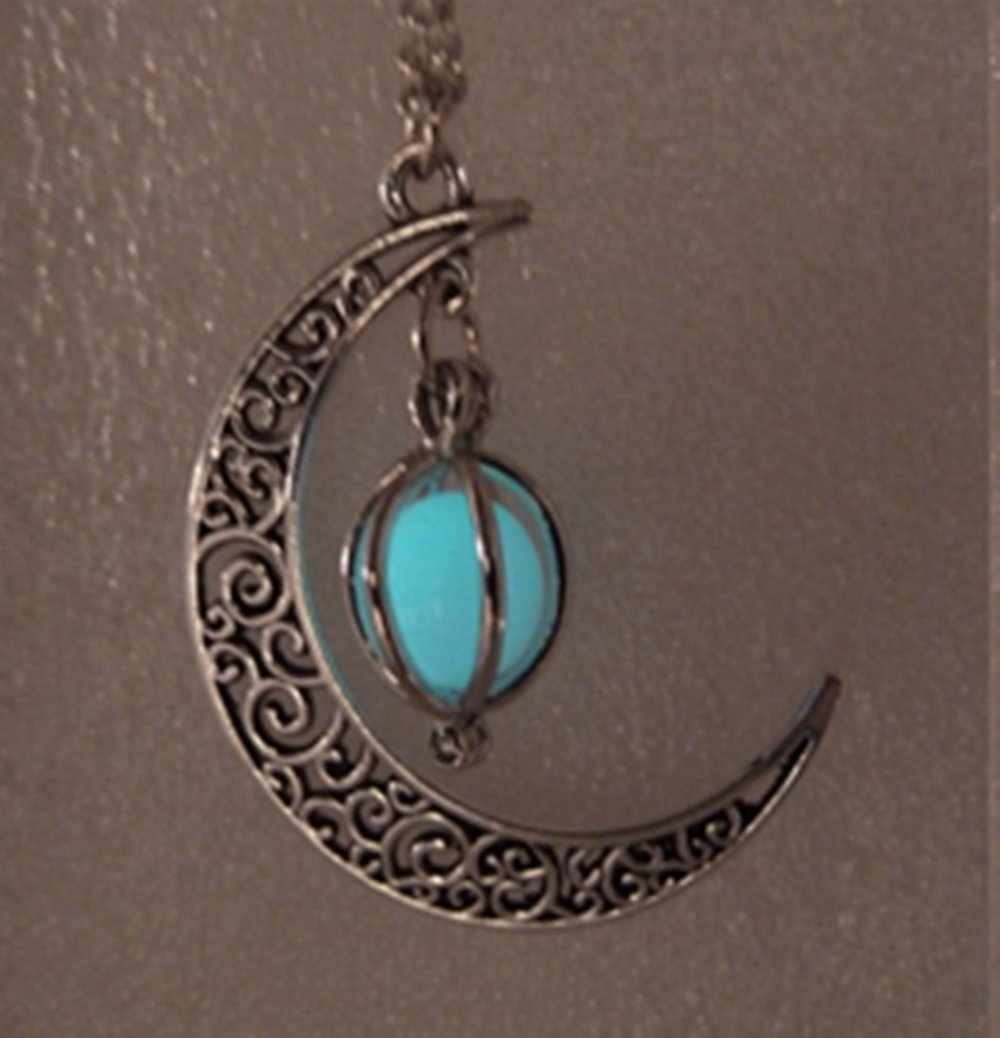 glowing glow products crescent glowies jewelry moon necklace orb cage